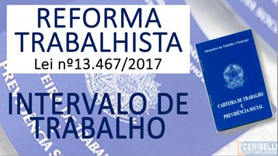 Reforma Trabalhista: Intervalo de Trabalho