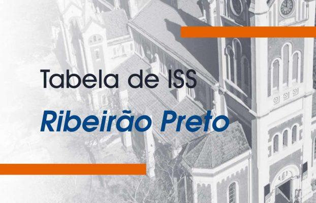 Tabela de ISS (Imposto Sobre Serviços) – Ribeirão Preto/SP